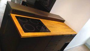 cozinha balcão de madeira para