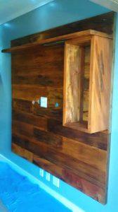 madeira de demolição painel