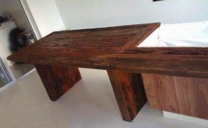 mesa madeira de demolição em