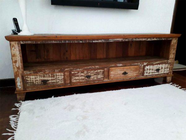 rack de madeira de demolição